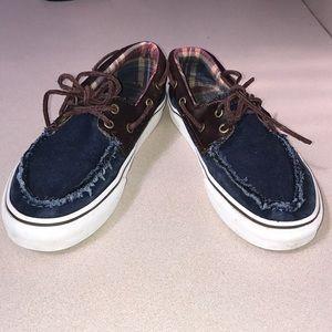 46c53f4004 Vans Shoes - Vans denim   leather boat shoes